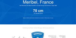 Snowiest Resort of the Week (1/2016): Kto vstúpil do nového roku s najväčším snežením? ©Skiinfo.de