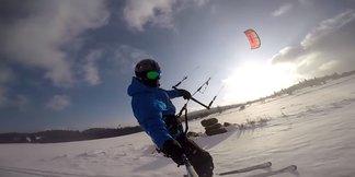 Víkendový snowkiting pri Kremnici [VIDEO] ©Go Kiting