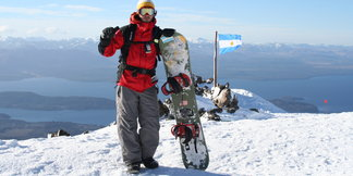 Summer skiing in South America