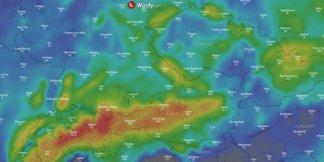 Snehová predpoveď na najbližších 10 dní: Aktuálna animovaná mapa ©windy.com