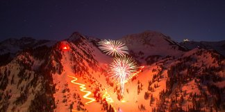 New Year's Eve Torchlight Parade ©Alta Ski Area