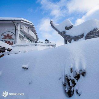Frankreich: Viel Neuschnee über das Wochenende 26./27.1. - © Courchevel/Facebook
