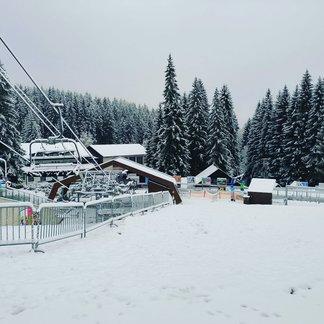 Prvý sneh v Čechách (13.11.2019) - © facebook | Ski&Bike Špičák