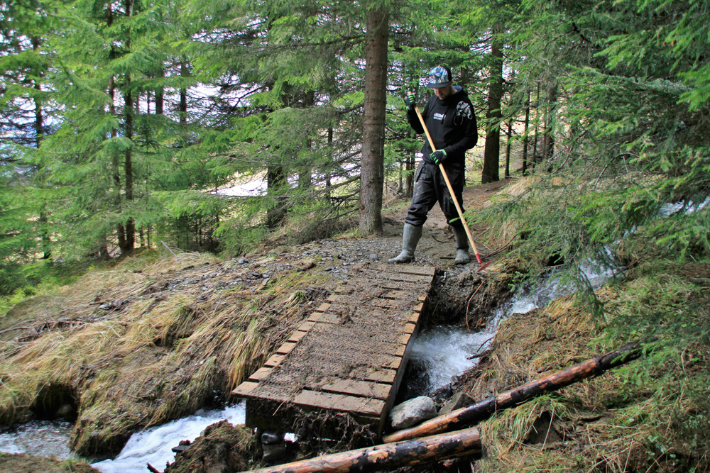 Pictures from preparing for season opening Saturday June 1 - © www.hafjell.no