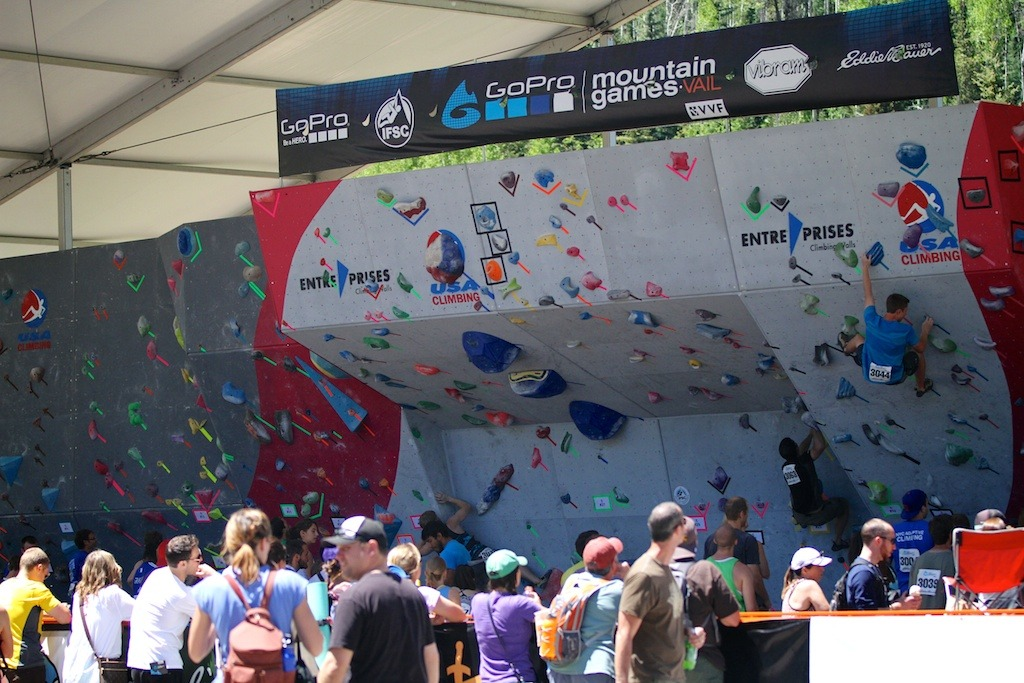 Several routes were fixed for climbers this weekend at the GoPro Mountain Games - ©Tim Shisler