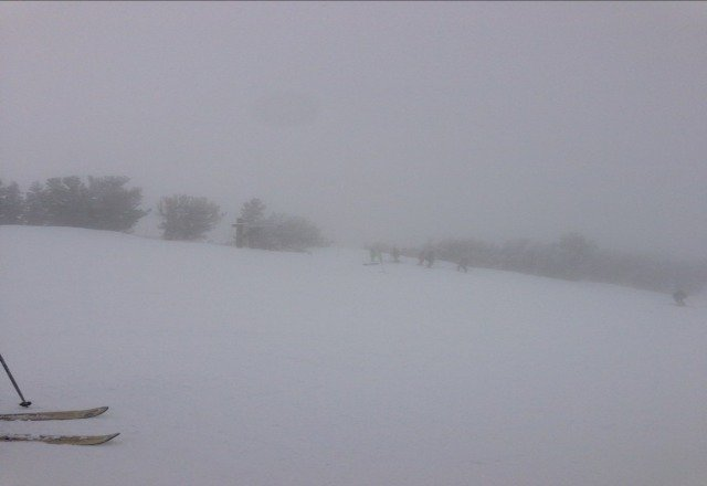 Low visibility at Heavenly.