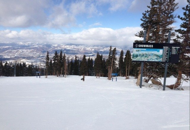 Great day at Snowmass. was able to find powder on the Burnt Mountain Glade.