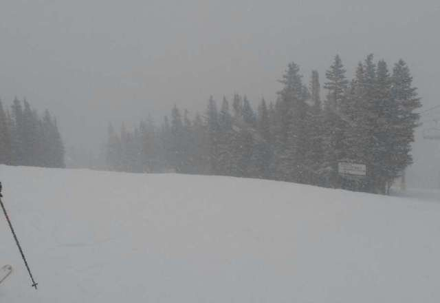 Heavy snow started at noon and continued into evening. Great conditions.  I expect 6 to 10 new by morning.