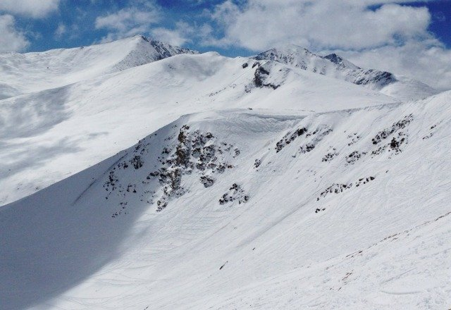 phenominal spring skiing above treeline at Breck