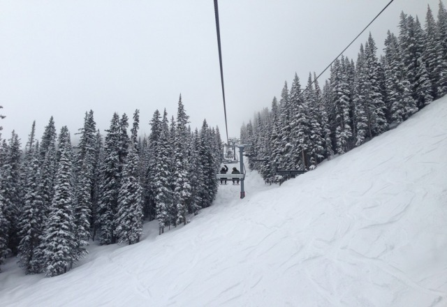 You have to have knowledge of where to go to avoid the lines. One of the many benefits of being a local. The snow has been incredible given the time of the year. I hate to see us close Sunday.