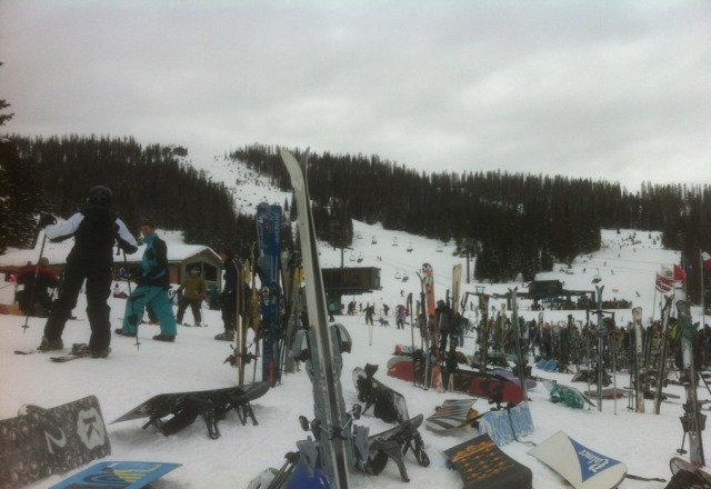 New Years weekend crowded but the snow is great.