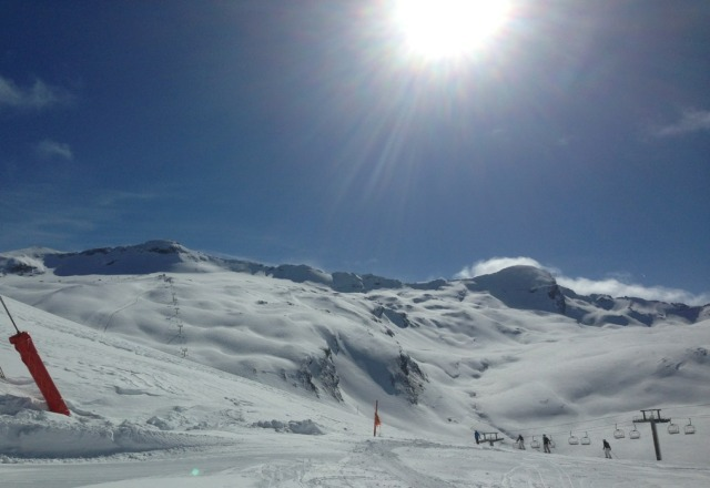 val d'Isere today.  a bit different from yesterday!