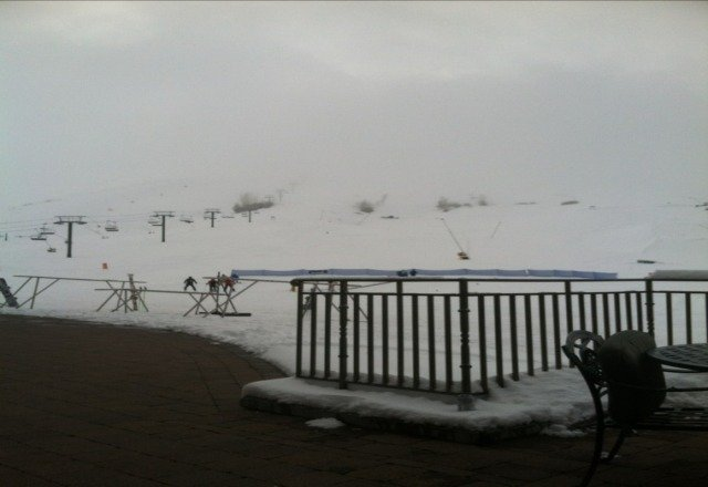 has been snowing all day. great skiing weather. not crowded at all