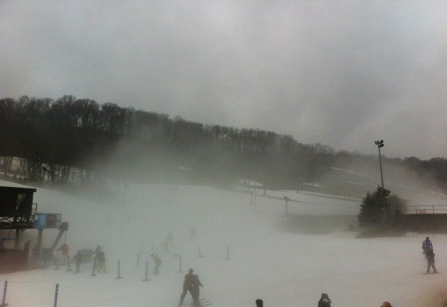 just a bit foggy on sunday but pns was open!!