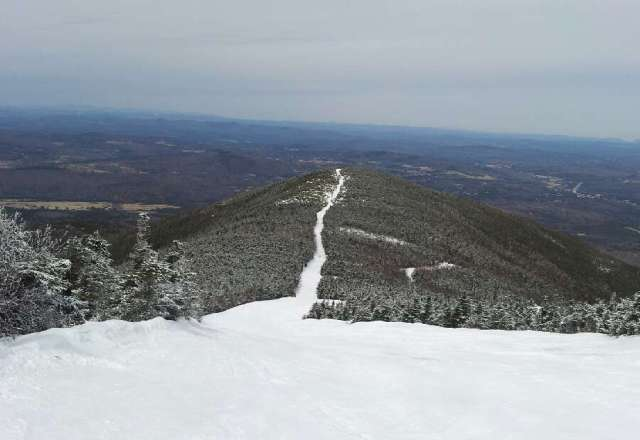 Great conditions at Cannon. Great spring skiing.
