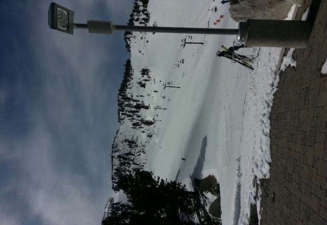 big bonanza best run today. slide is slush xcept bb. rose is hard packed & icy. more slush later today