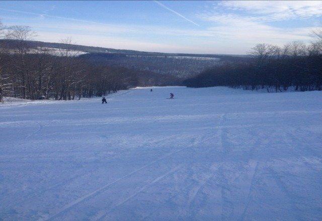 great skiing hardly anyone hear