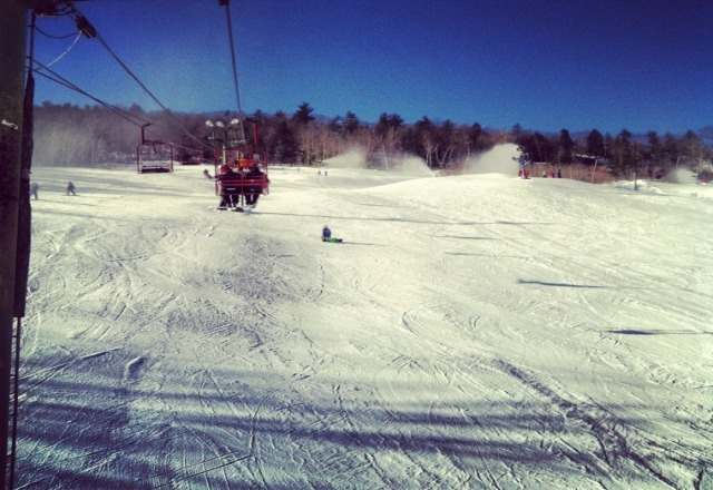 great conditions! tons of snowmaking and almost no ice