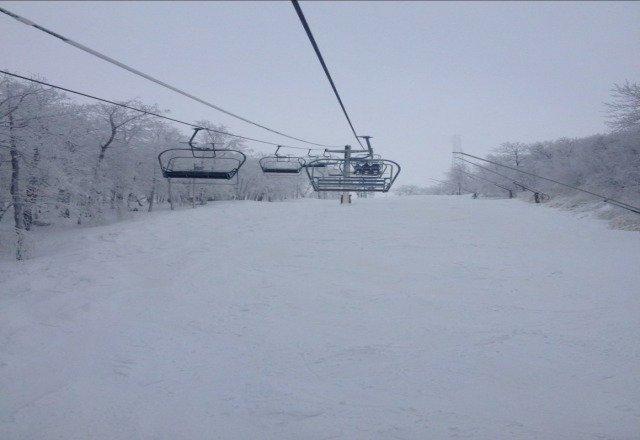 great skiing at the knob!