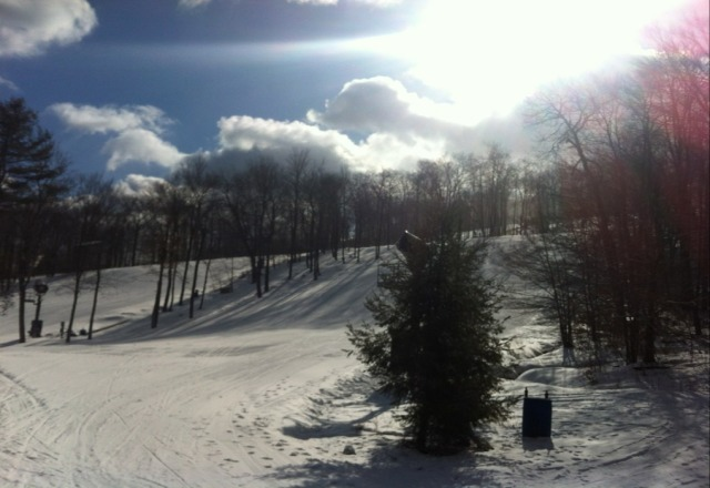 was there tuesday, conditions not too bad, soft and some trails ungroomed but all is good!! ONE terrain park was off the hook!!!!! good job park crew!!!!