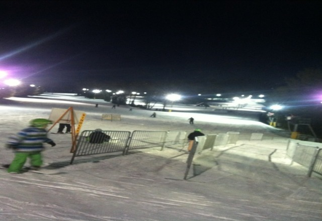 Good time tonight, nearly no crowd, super icy though.