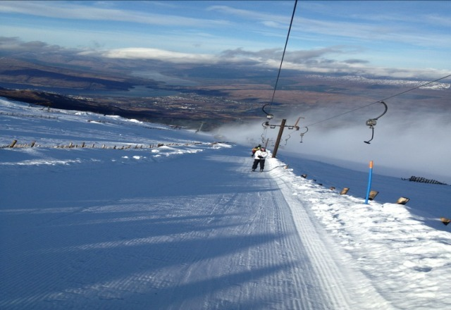 good spring snow on the mountain conditions where good on sunday 17th feb snow on all of the runs and all toes running