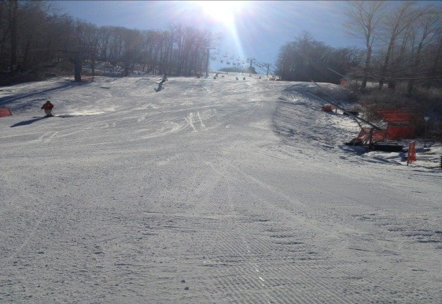 This is one of the best skiing days of the season