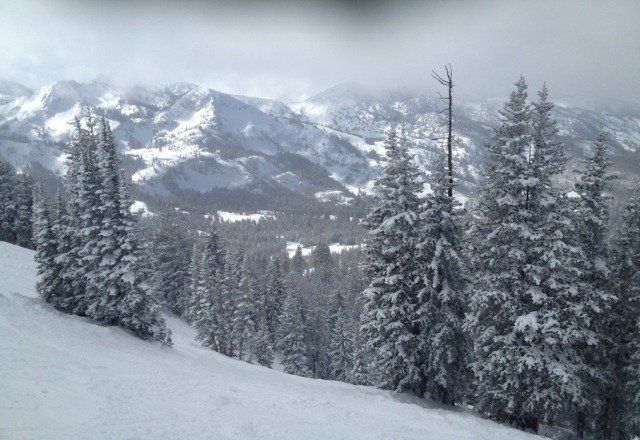Great day in the backcountry. it was more like a foot of new snow.