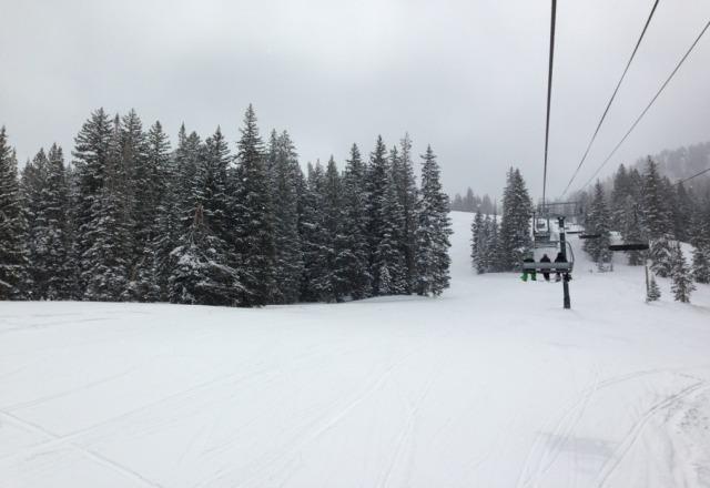 loving this spring skiing!