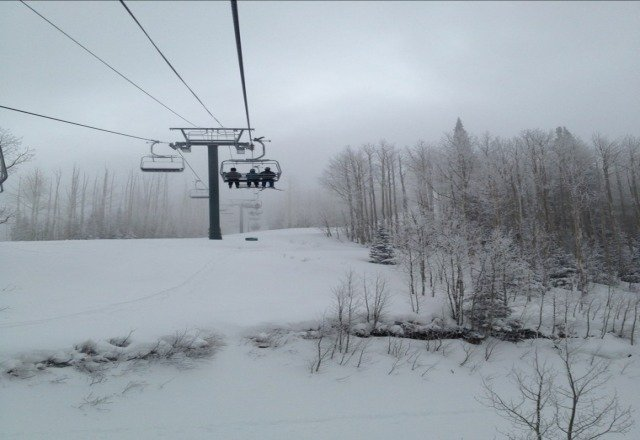 fresh powder.  wahoo!!!