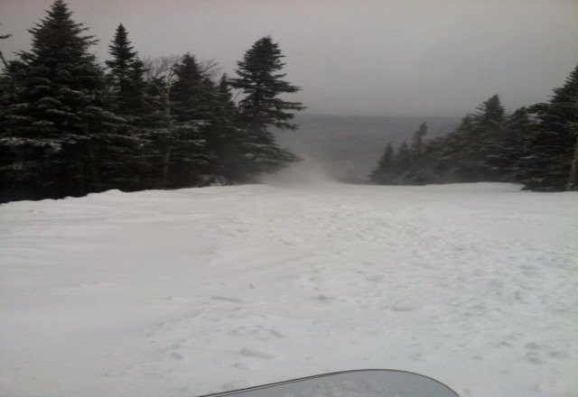 Real windy at the top, but still alot of fresh pow.