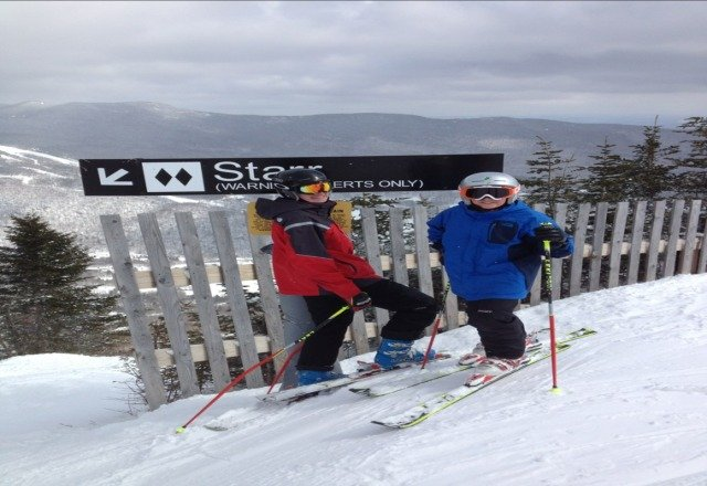 starr was great today me and my brother skied it