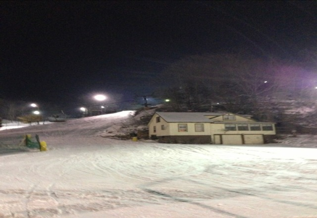 "Fresh 4-6"", great conditions for the midwest and the after party in the lodge was a blast!"