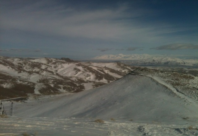 The snow is melting fast up here. It's too bad there isn't a lift in the Ruby Mountains.