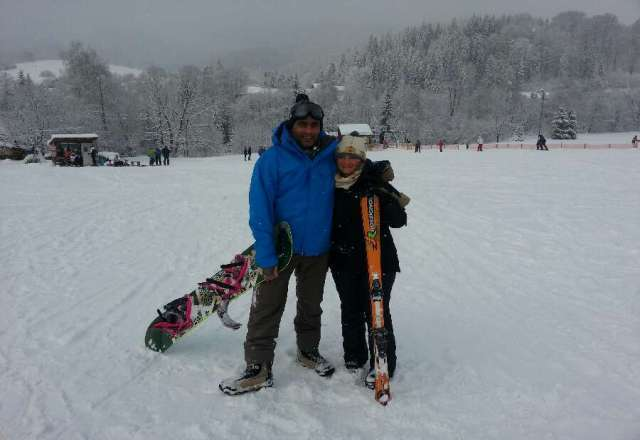 me and Ola had a great time on the slopes of wisla