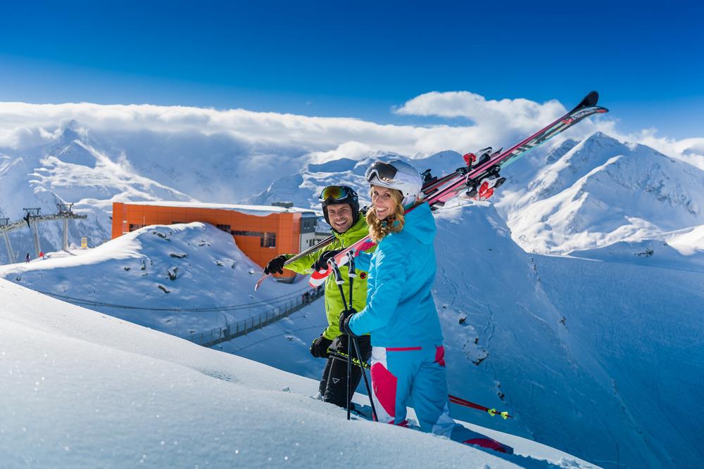 Hängebrücke mir Skifahrer  - © Gasteiner Bergbahnen AG
