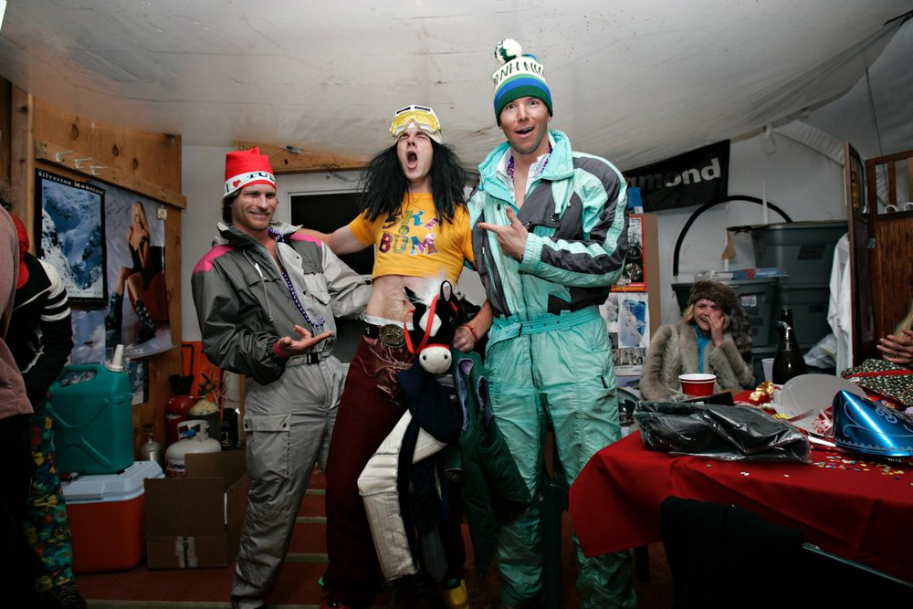 Retro New Year party at Silverton, CO.