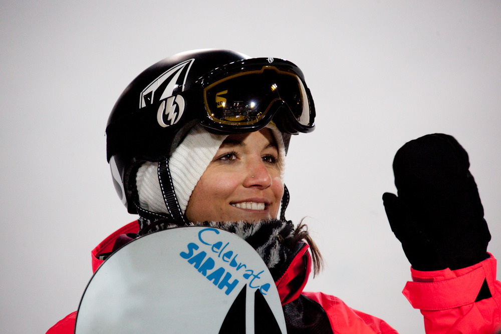 Elena Hight won 2nd place behind Kelly Clark at the women's skiing Superpipe finals. Photo by Sasha Coben