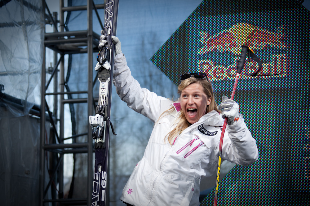 Hedda Berntsen, 2nd place women's Skier X. Photo by Sasha Coben