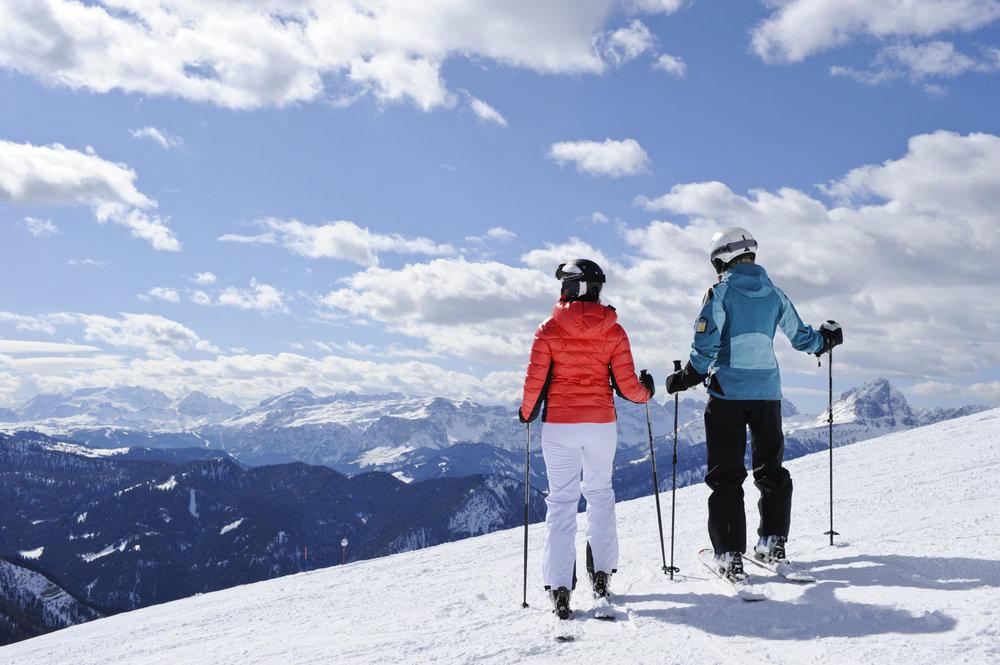 Kronplatz offers miles of perfectly groomed beginner runs and stunning views over the Dolomites - © TVB Kronplatz