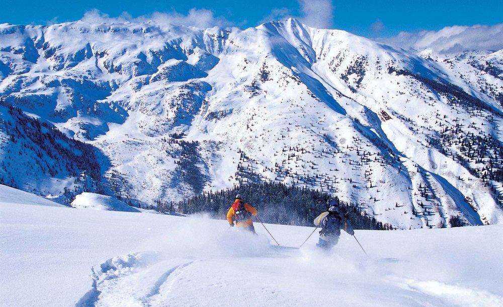 A Aspen, la poudresue est si légère qu'on la compare à des bulles de champagne... - © ® Aspen Snowmass