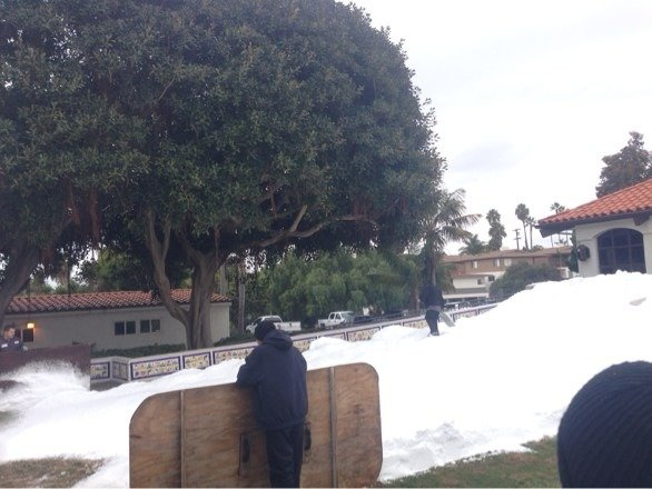 More snow in Orange County on the beach than up there