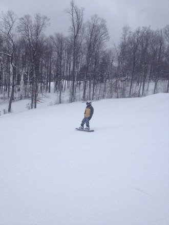 What a great day to be on the slops.