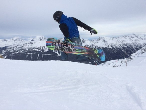 Good times on whistler peak. No pow tho.