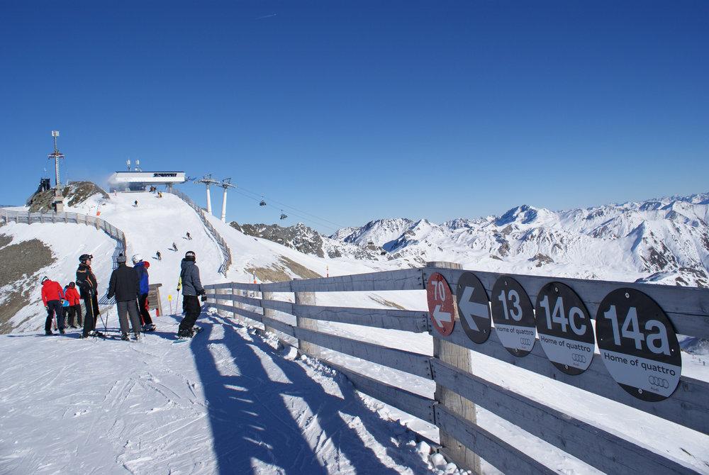27 Kilometer schwarze Pisten bieten genügend Raum für sehr gute Skifahrer - © Gernot Schweigkofler