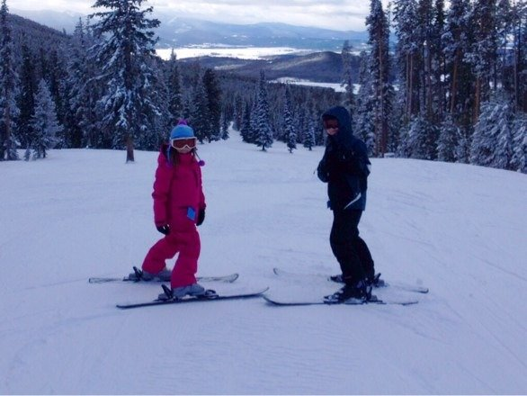 Skied Goldbug and Red Lion all day with the kids, which was great for them. Snuck over to Berkeley without them. Not bad, but some rocks hidden under the loose snow. 10-12 more inches will help a lot!