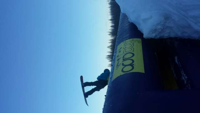 The AcroBag is up and running here at Ski Brule! Come try 'er out!
