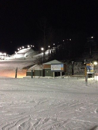 It was a great night to ski, nobody there and perfect weather. A little icy on East Ridge.