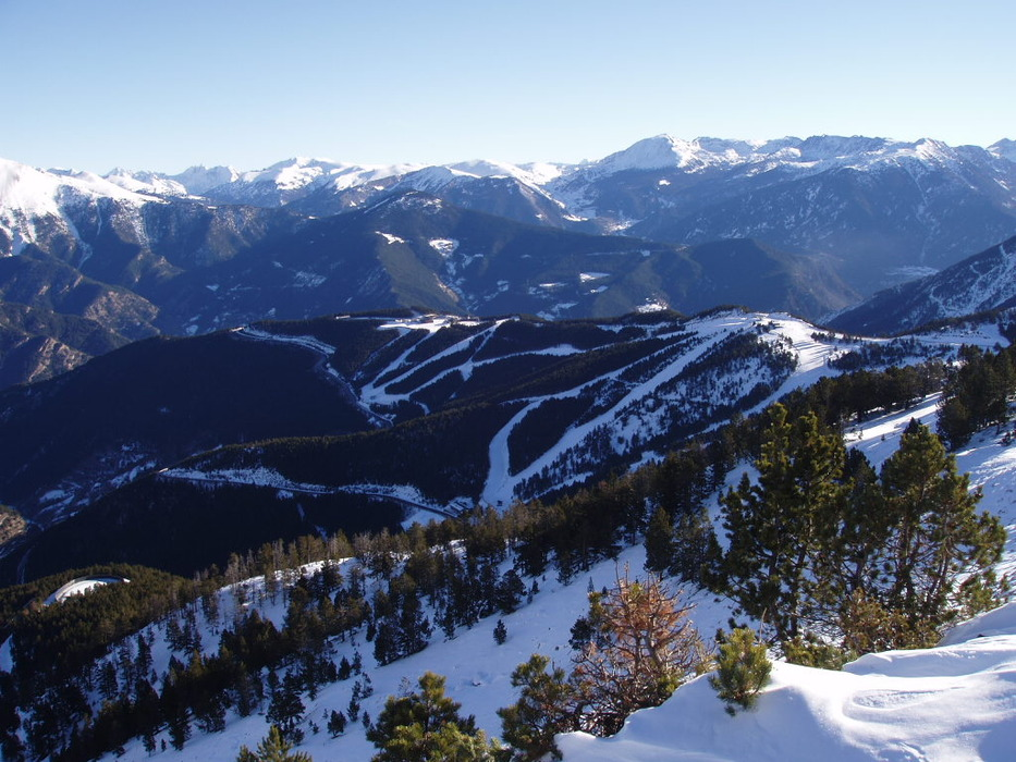 A view of the mountains surrounding Pal-Arnisal, Andorra