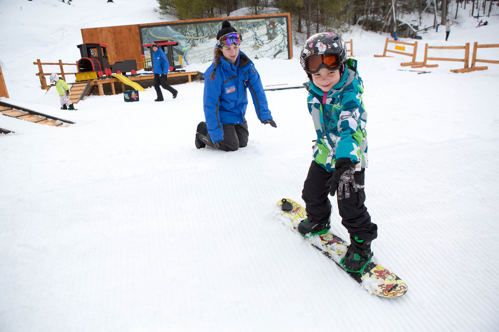 Fall in love with a new sport during Learn to Ski and Snowboard Month. - © Loon Mountain